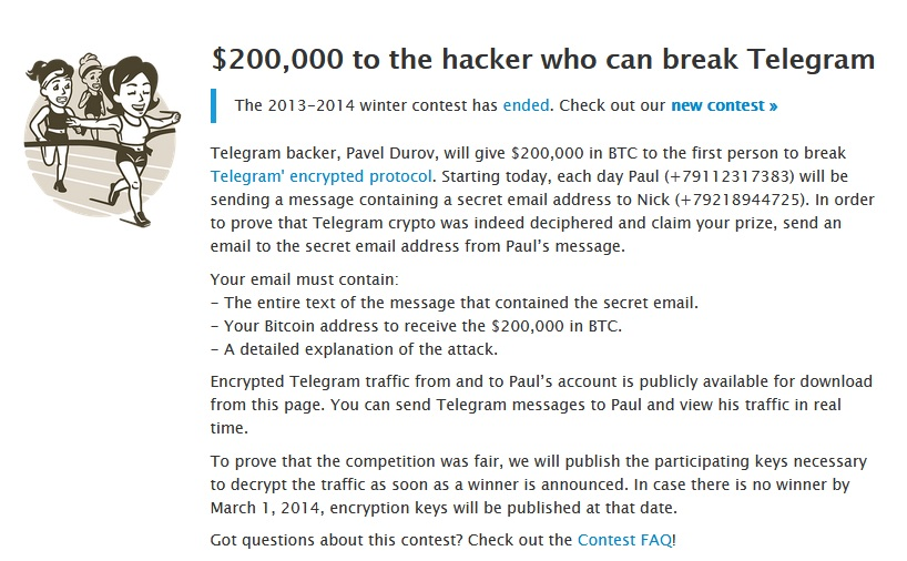 جایزه هک تلگرام