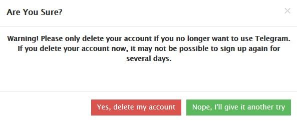حذف اکانت تلگرام اندروید