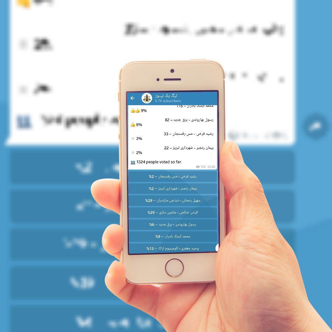 افزایش رای تلگرام
