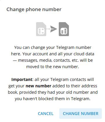 تغییر شماره تلفن در تلگرام لپتاپ