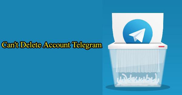 حذف نشدن تلگرام