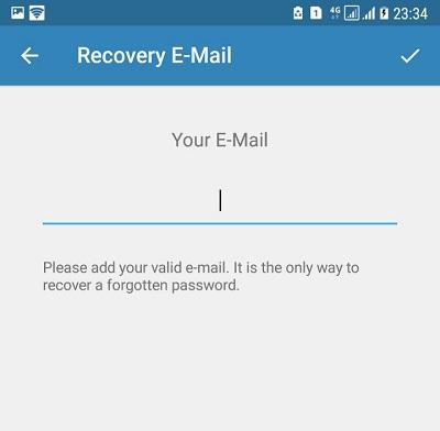 ایمیل دو مرحله ای تلگرام