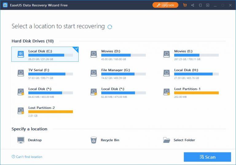دانلود نرم افزار ریکاوری EaseUS Data
