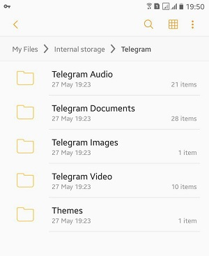 محل ذخیره فایلهای تلگرام در اندروید