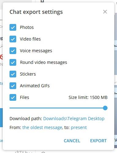 آموزش پشتیبان گیری از تلگرام