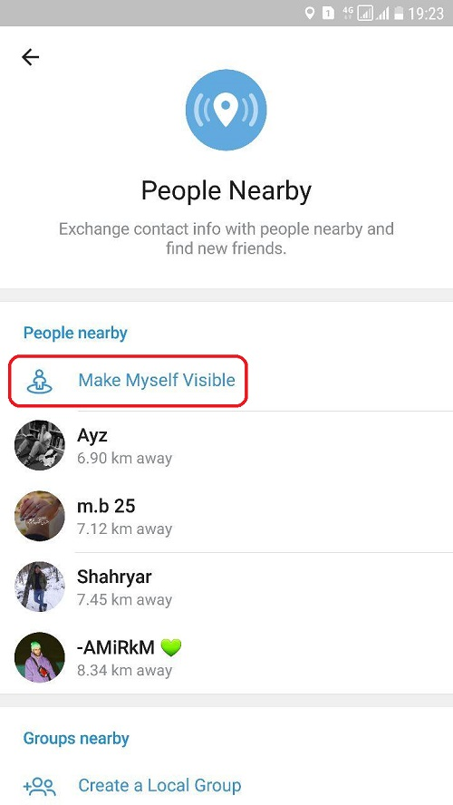 قابلیت People nearby