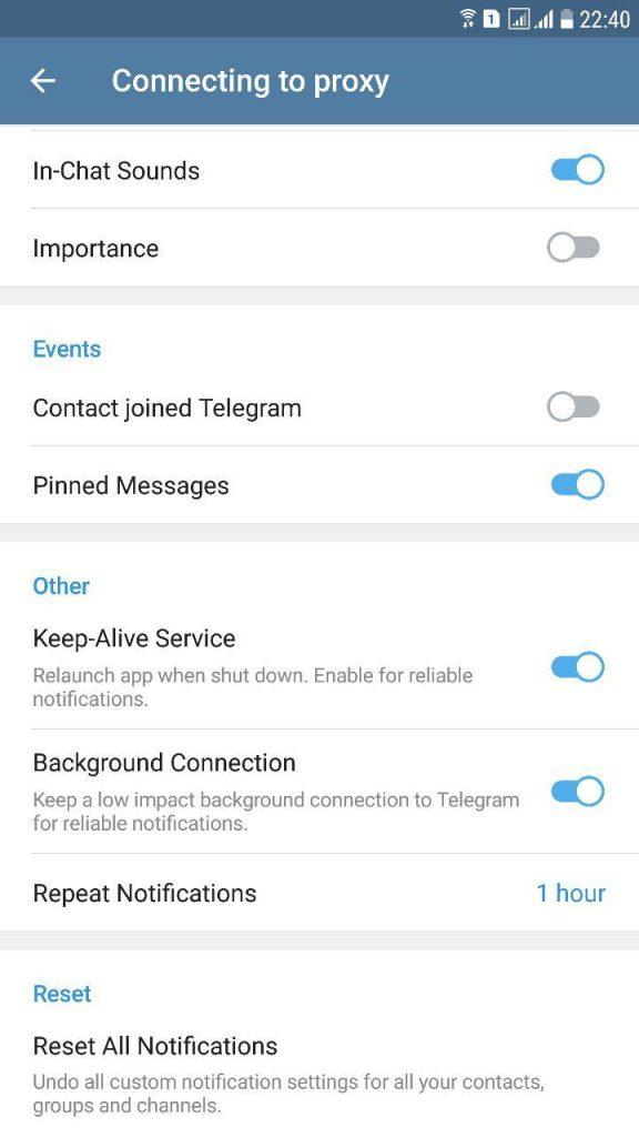 نشان ندادن پیام تلگرام در بالای صفحه گوشی