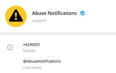 ربات Abuse Notifications