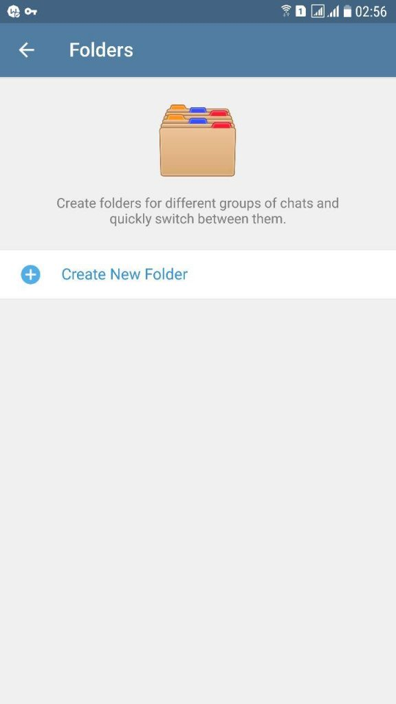 دسته بندی چت های تلگرام