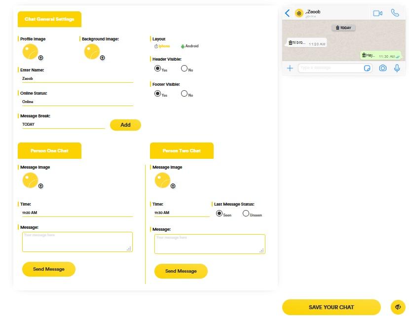 ساخت اسکرین شات جعلی واتساپ