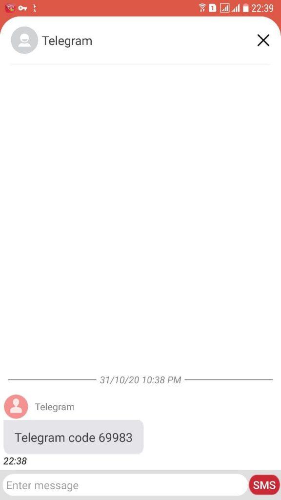 کد 5 رقمی تلگرام