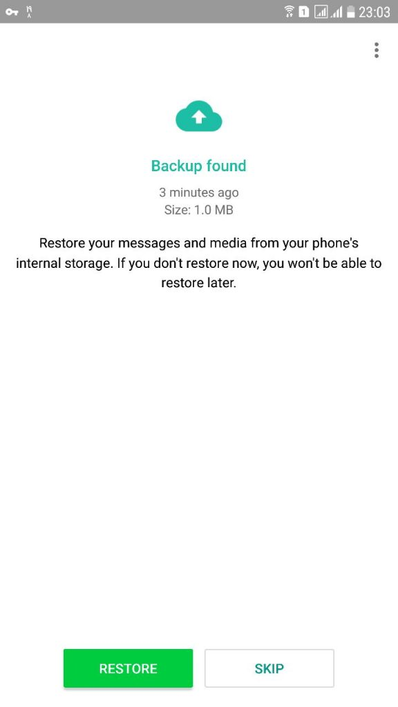 بازیابی پیامهای واتساپ